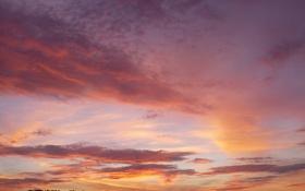 Картинка закат, ночь, небо