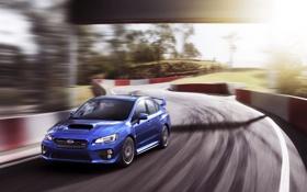 Обои Авто, Дорога, Синий, Subaru, Спорт, Машина, Свет