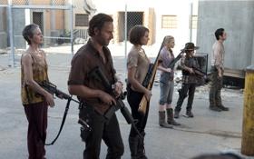 Картинка фон, зомби, Maggie, zombie, сериал, оборона, тюрьма