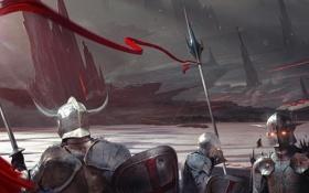 Обои шлем, копье, воины, крестоносцы, armor