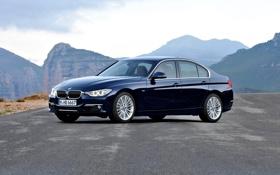 Обои Авто, Горы, Синий, BMW, Машина, Бумер, БМВ