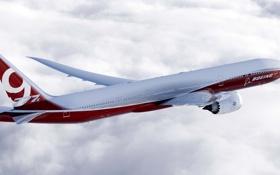 Обои скорость, Boeing, Полёт, Боинг, Самолёт, Пассажирский, B-777