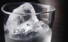 Картинка лед, ice, вода, стакан