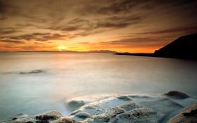 Обои море, небо, пейзаж, скалы