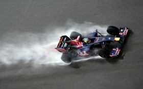 Обои дождь, Red Bull