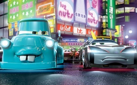 Обои япония, мультфильм, Tokyo, Тачки 2, Cars 2, мэтр