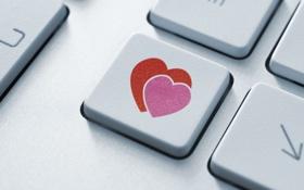 Обои любовь, фон, обои, настроения, сердце, кнопки, wallpaper