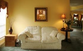 Картинка уют, дом, стиль, комната, отдых, мебель, интерьер