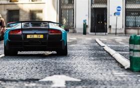 Обои Lamborghini, Paris, Blue, France, Murcielago, SuperVeloce, Street