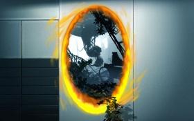 Картинка orange, glados, portal 2