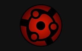 Обои красный, фон, чёрный, знак, символ