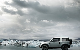 Обои Небо, Океан, Лед, Land Rover, Концепт-кар, DC100, Ленд Ровер