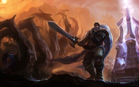 Обои League of Legends, Garen, dominion, nocturne