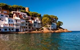 Обои побережье, Испания, набережная, Spain, Средиземное море, Costa Brava, Коста-Брава