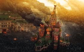 Обои город, москва, война миров, World War Z