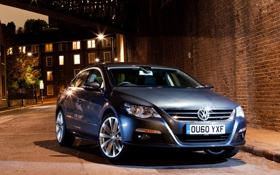 Обои Passat, Volkswagen, фонари, ноч, UK-spec, улица