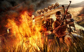 Обои огонь, игра, Far Cry 2, африка, пламе