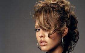 Картинка модель, волосы, актриса, прическа, красавица, jessica alba, латина