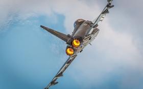 Картинка небо, истребитель, вираж, полёт, многоцелевой, Eurofighter Typhoon