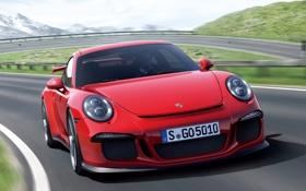 Картинка 911, Porsche, red, GT3