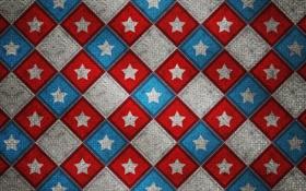 Обои квадрат, узор, звезда, цвет