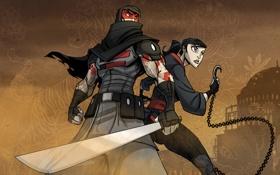 Картинка девушка, игры, обои, меч, тату, кинжал, sword