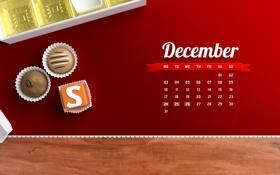 Картинка конфеты, календарь, числа, декабрь, дни, december, ассорти
