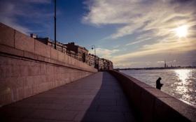 Обои река, здания, дома, Russia, набережная, питер, санкт-петербург