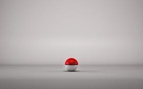 Обои Ball, серый, мячик, крсный