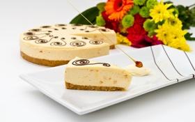 Картинка цветы, еда, букет, торт, cake, десерт, food