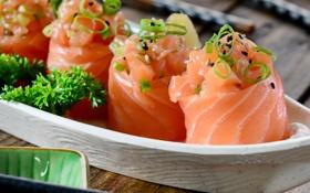 Обои суши, sushi, рыба, роллы, fish, rolls, японская кухня