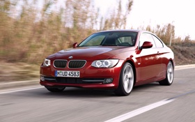 Картинка BMW, Бумер, Дорога, Капот, День, 3 Series, Передок