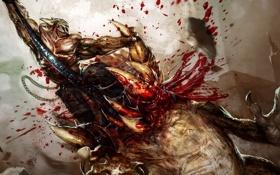 Обои кишки, кровь, Splatterhouse, монстры