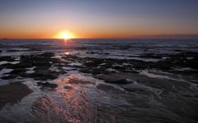 Картинка море, волны, пляж, лето, небо, вода, солнце