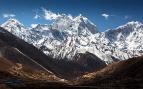 Обои небо, облака, горы, китай, тибет