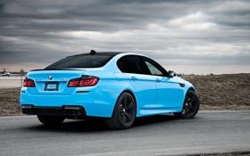 Обои BMW, Тюнинг, Бумер, БМВ, Голубой, Фары, Tuning