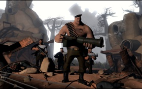 Картинка Team Fortress 2, war, heavy, russian