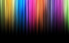 Обои темно, лучи, цвета