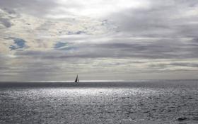 Картинка парус, небо, море