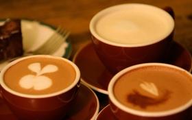 Обои кофе, чашка, вилка, coffee