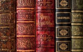 Обои книги, старые, переплёт