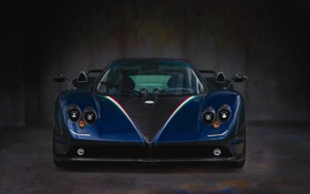 Картинка supercar, black, zonda, pagani
