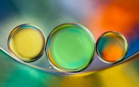 Обои вода, пузырьки, цвет, масло, воздух, объем