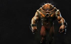 Обои шипы, злой, шлем, цепи, люди икс, дымок, x-men