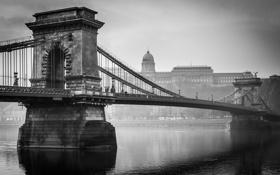 Обои Budapest, река, Дунай, Будапешт, Hungary, мост, Венгрия