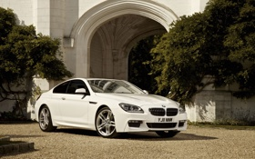 Картинка трава, 2012 bmw 6 series coupe, car, тень, машина, trees, grass