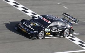 Обои Гонка, Mercedes, Вид с верху, Спорт, DTM, Черный, C-Coupe