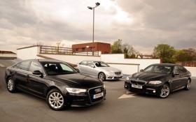 Обои Audi, Mercedes-Benz, Ауди, BMW, Мерседес, БМВ, передок