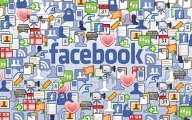 Обои Социальная Сеть, Facebook, Иконки