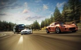 Картинка скорость, трасса, гонки, суперкары, Forza Horizon